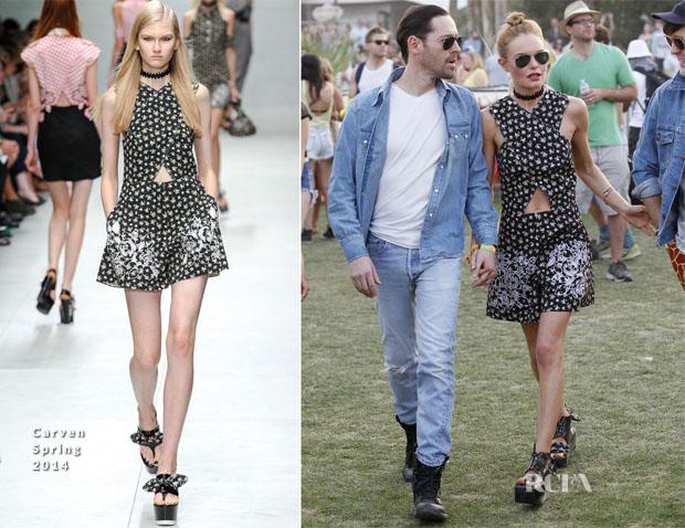 Kate Bosworth In Carven - Coachella Music Festival 2014