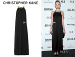 Kate Bosworth's Christopher Kane Croc Clip Trapeze Gem Dress