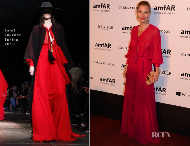 Kate Moss In Saint Laurent - amfAR's Inspiration Gala Sao Paulo