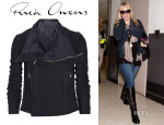 Kate Winslet's Rick Owens Blister Brushed-Leather Biker Jacket