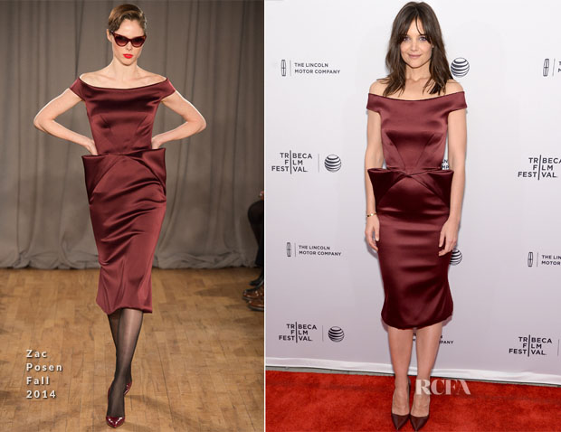 Katie Holmes In Zac Posen - 'Miss Meadows' Tribeca Film Festival Premiere