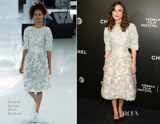 Keira Knightley In Chanel Couture - 'Begin Again' Tribeca Film Festival Closing Night Gala Premiere