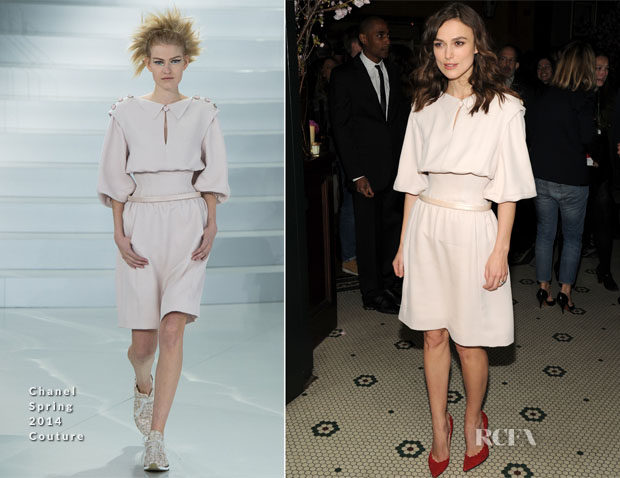 Keira Knightley In Chanel Couture - Chanel Dinner In Honour Of The 2014 Tribeca Film Festival