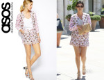 Kourtney Kardashian's ASOS Floral Print Jacket and ASOS Floral Print Shorts