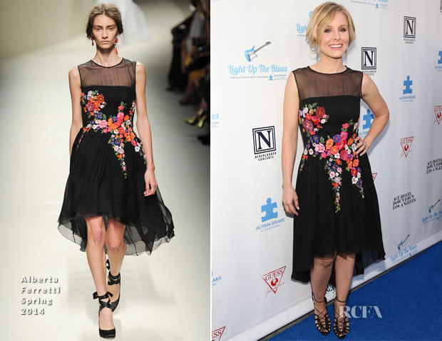 Kristen Bell In Alberta Ferretti - 'An Evening Of Music To Benefit Autism Speaks'