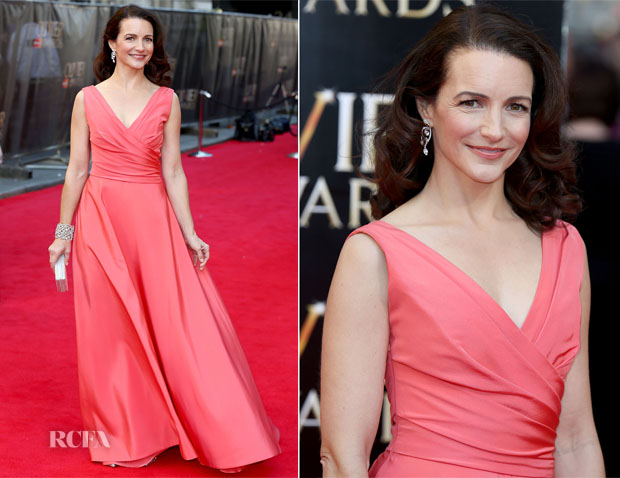 Kristin Davis In Monique Lhuillier - Laurence Olivier Awards 2014