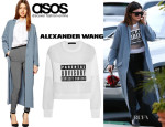 Kylie Jenner's ASOS Duster Coat And Alexander Wang 'Parental Advisory' Sweatshirt