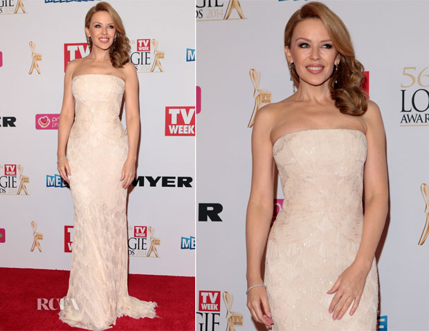 Kylie Minogue In Roberto Cavalli - Logie Awards 2014