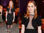 Laura Carmichael In Gucci - The Glamour Of Italian Fashion 1945-2014 VIP Private View