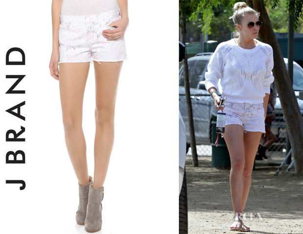 LeAnn Rimes' J Brand '1046' Low Rise Cut Off Shorts