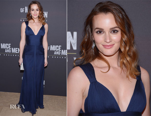Leighton Meester In Versace - 'Of Mice and Men' Opening Night After-Party