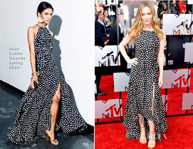 Leslie Mann In Juan Carlos Obando - MTV Movie Awards 2014