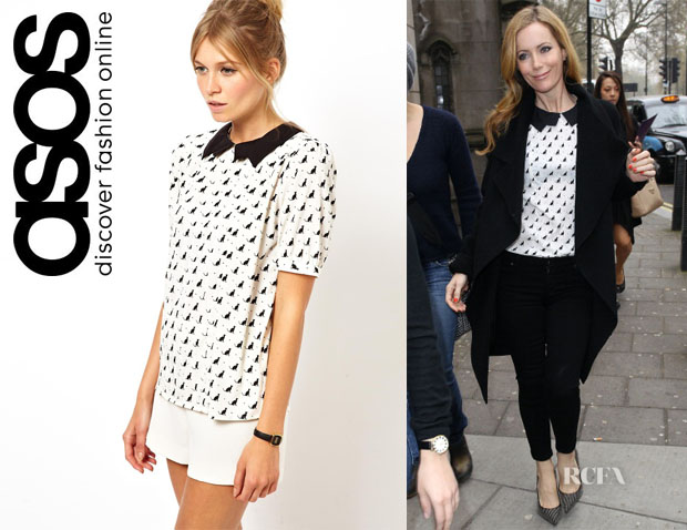 Leslie Mann's ASOS Cat Print Top