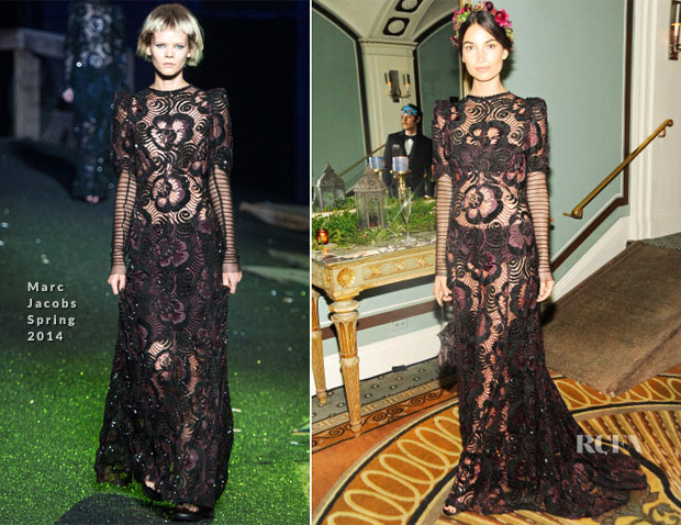 Lily Aldridge In Marc Jacobs - Save Venice Enchanted Garden Ball