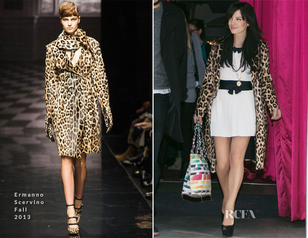 Lily Allen In Chanel and Ermanno Scervino - Out In Paris