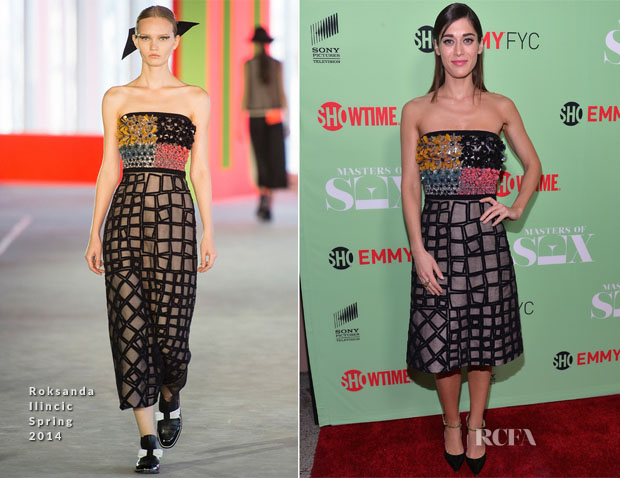 Lizzy Caplan In Roksanda Ilincic  - 'Masters of Sex' Special Screening & Discussion Panel