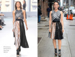 Lucy Liu In Proenza Schouler - Late Show With David Letterman