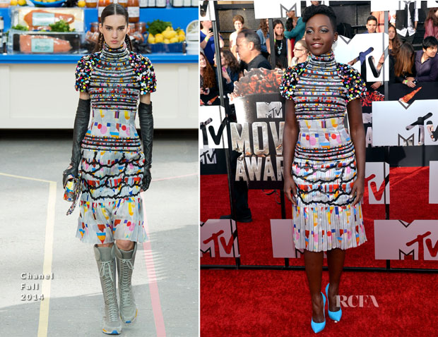 Lupita Nyong'o In Chanel Fall 2014 – MTV Movie Awards 2014