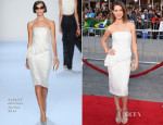 Lyndsy Fonseca In Badgley Mischka - 'Neighbors' LA Premiere