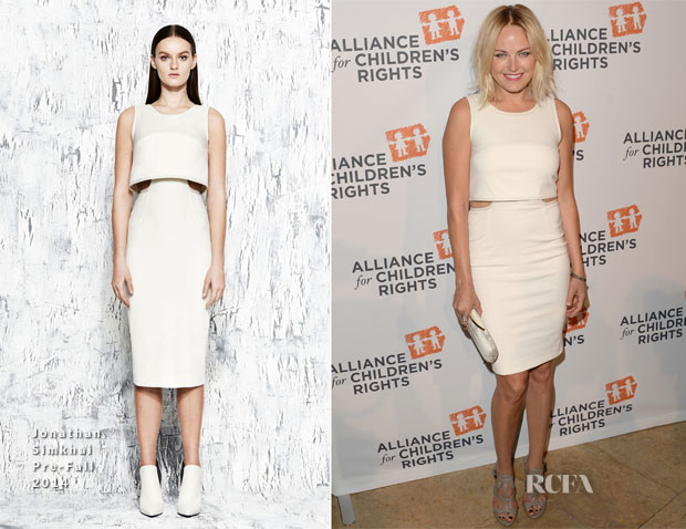 Malin Akerman In Jonathan Simkhai - The Alliance For Children's Rights 22nd Annual Dinner