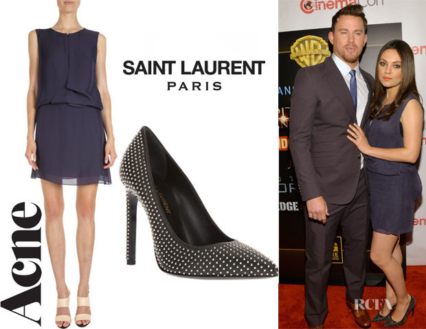 Mila-Kunis-Acne-Studios-Twist-Goddess-Dress-And-Saint-Laurent-Classic-Paris-105-Studded-Pumps111