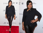 Mindy Kaling In Helmut Lang - 'Alex of Venice' Tribeca Film Festival Premiere