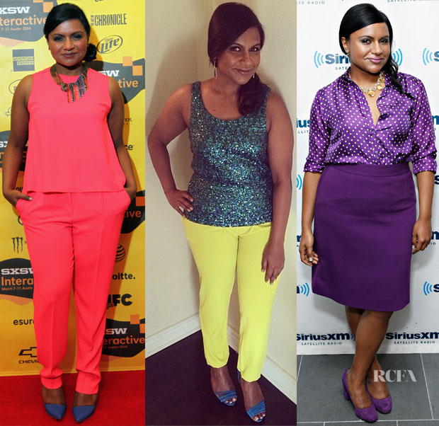 Mindy Kaling Loves Bright Colours