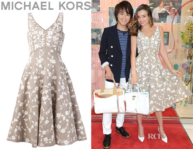 Miranda Kerr's Michael Kors Embroidered Dance Dress