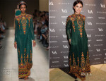 Miroslava Duma In Valentino - The Glamour of Italian Fashion Exhibition Preview