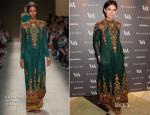 Miroslava Duma In Valentino - The Glamour of Italian Fashion Exhibition Preview