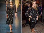 Mollie King In Dolce & Gabbana - The Glamour Of Italian Fashion 1945-2014 VIP Private View