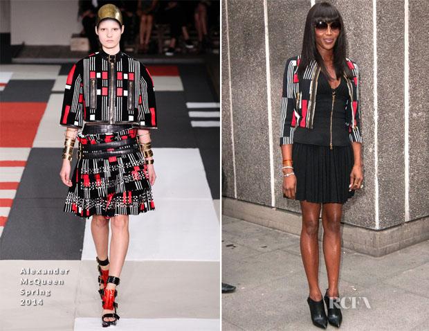 Naomi Campbell In Alexander McQueen - 2014 Vogue Festival