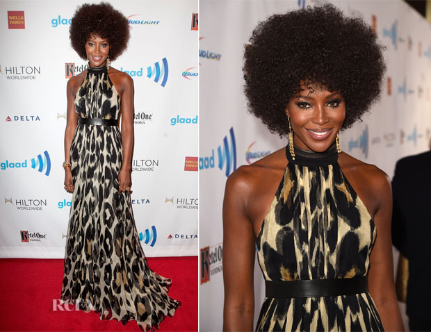Naomi Campbell In Gucci - 25th Annual GLAAD Media Awards