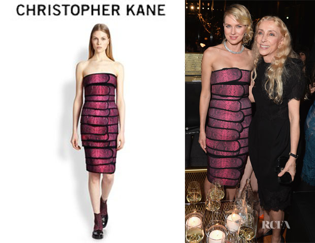 Naomi Watts' Christopher Kane Elastic Cinch Bandeau Dress