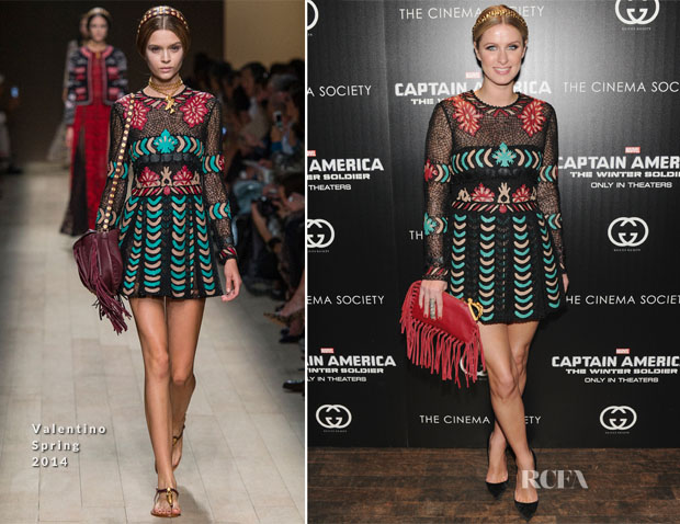 Nicky Hilton In Valentino - 'Captain America The Winter Soldier' New York Screening