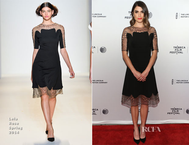 Nikki Reed In Lela Rose - 'Murder of a Cat'Tribeca Film Festival Premiere