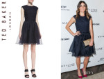 Nikki Reed's Ted Baker London 'Jessika' Lace Fit-And-Flare Dress