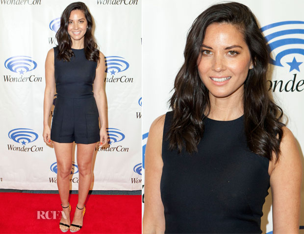 Olivia Munn In Valentino - 'Deliver Us From Evil' Cast & Filmmakers Press Line
