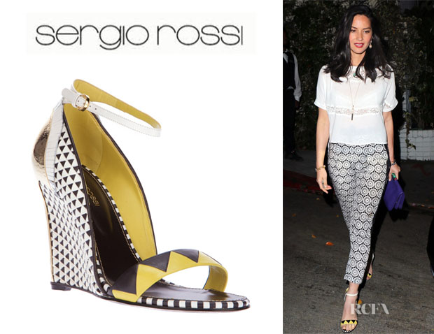Olivia Munn's Sergio Rossi Wedge Sandals