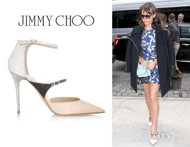 Rashida Jones' Jimmy Choo 'Typhoon' Leather Pumps