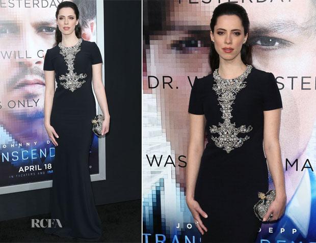Rebecca Hall In Alexander McQueen - 'Transcendence' LA Premiere