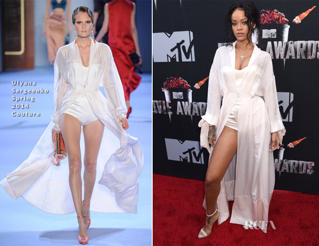 Rihanna In Ulyana Sergeenko Couture - MTV Movie Awards 2014