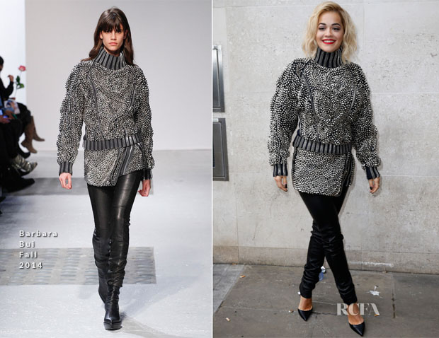 Rita Ora In Barbara Bui - BBC Radio One