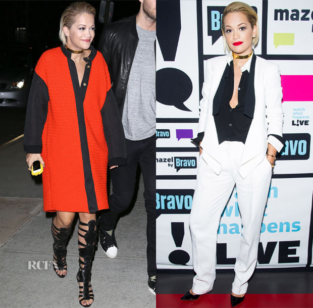 Rita Ora In Emmanuel Ungaro & Michael Kors - 'Watch What Happens Live'