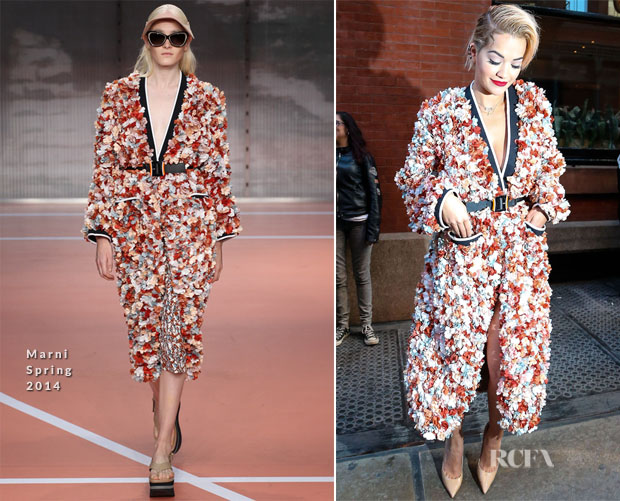 Rita Ora In Marni - The Mercer Hotel