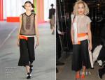 Rita Ora In Roksanda Ilincic & Marios Schwab - Edition Hotel