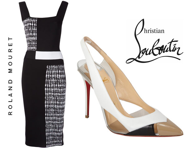Roland Mouret Rowington Dress and Christian Louboutin Air Chance Shoes