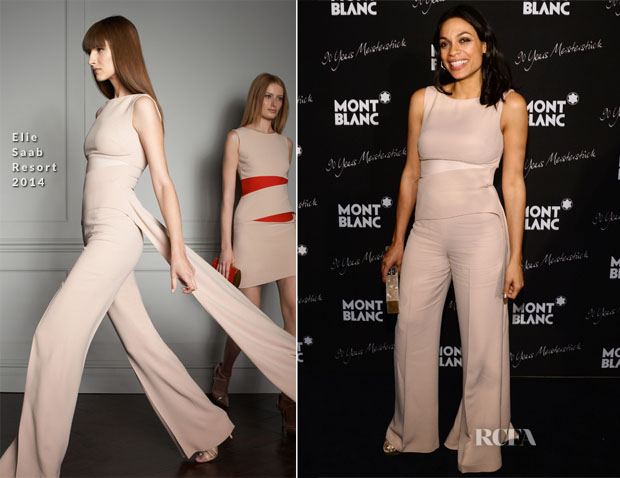 Rosario Dawson In Elie Saab -  Montblanc Celebrates 90 Years of the Iconic Meisterstuck