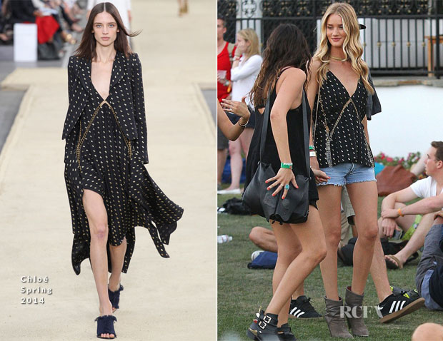 Rosie Huntington-Whiteley In Chloé - Coachella Music Festival 2014