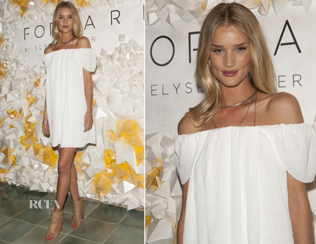 Rosie Huntington-Whiteley In Kenzo - Forward by Elyse Walker Coachella Party